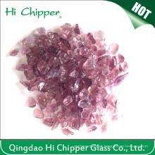 Paisagismo Glass Chips Light Purple Squash Vidro Espelho Scraps