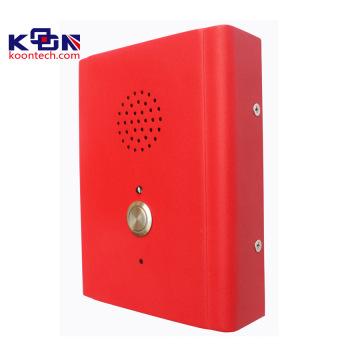 Teléfono con altavoz, construcción de intercomunicador, caja de llamada con cuerpo robusto