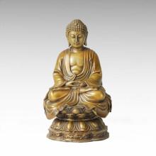 Buda Bronce Escultura Shakyamuni / Gautama decoración de latón de la estatua Tpfx-B92 / B93