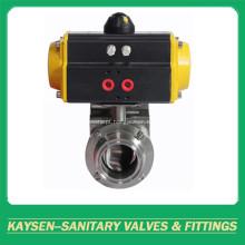 Braçadeira pneumática sanitária 3A / SMS / ISO da válvula de borboleta do atuador