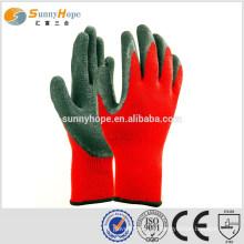 10 Gauge rote Handfläche Arbeitshandschuhe