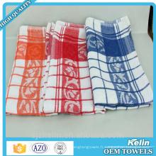 Torchons en coton à motif à carreaux 40x60cm à faible résistance à la chaleur