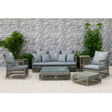 DEVON COLLECTION - Ensemble de canapé en rotin en résine style Europe pour meubles en osier ou en salle de salon