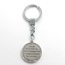 Engraved Logo Fashion Custom Jewelry Plate Key Ring