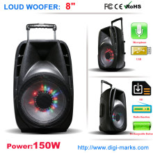 Colorful LED Light Wireless Bluetooth Speaker Karaoke Speaker