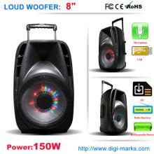 Orador sem fio colorido do karaoke do orador de Bluetooth da luz do diodo emissor de luz