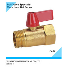 Male Threaded Brass Ball Valve M/F with Butterfly Handle
