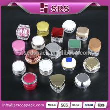 wholesale round shape 5g transparent cheap gel jar