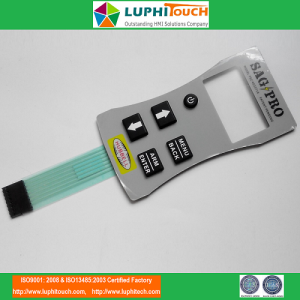 Handheld Device Rubber Keypad PET Circuit Switch
