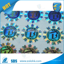 Custom authentic security hologram sticker, waterproof 3d laser holographic label seal