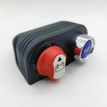 Interruptor de aislamiento de batería de 50 A y panel de interruptores de arranque del motor con un clic