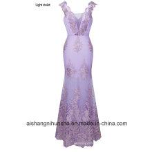 Luxurious Elegant Gown Evening Dress Three-Dimensional Applique Prom Dress