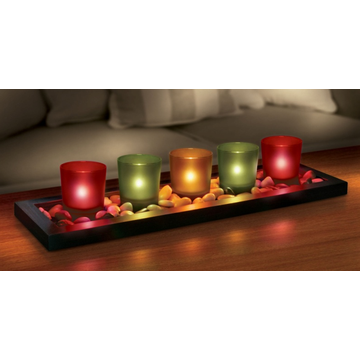 Customized for Wooden Candle Holder Candle Holder Glass Jewel Tone 5pcs Set export to Armenia Factories