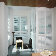 Decorative pvc plantation shutter white pvc louver window