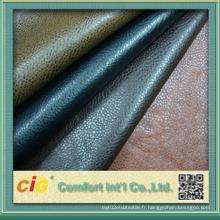 Cuir en cuir coloré de haute qualité