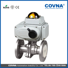 industrial HVAC stainless steel 220v av electric control flange ball valve
