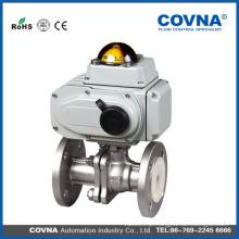 Industrial HVAC aço inoxidável 220v av elétrica válvula de esfera de flange de controle