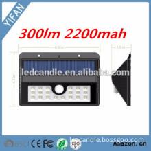 20 LED Solar Motion Sensor Light, incandescent luminaire Home Light,solar light wall mount