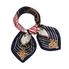 Impresión de moda 53 * 53 cm hairband mujeres bufanda de seda mujeres cuadrado