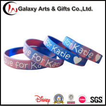 Multi-Color Promotional Debossed Perosnalzied Silicone Bangle and Bracelects