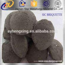 Désoxydant noir professionnel de briquette de carbure de silicium de fabricant pour la fabrication de l'acier