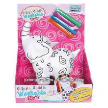 Stuffed elefante educativo DIY lavable colorear juguete