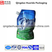 Custom Printed Plastic Spout Pouch for Liquid Laundry Detergent