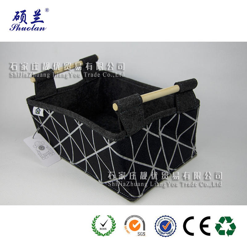Customized 100 Polyester Felt Basket