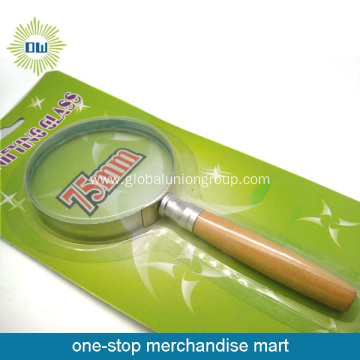 Hot sell wooden handle magnifying glass