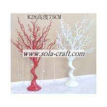 Quality for Wedding Table Tree 75CM Red and White Color PE Plastic Wedding Tree Hanging Acrylic Pearl Beaded Chains export to Reunion Wholesale