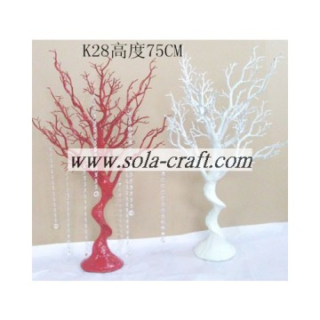 75CM Red and White Color PE Plastic Wedding Tree Hanging Acrylic Pearl Beaded Chains