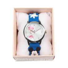 Novo estilo encantador design PU pulseira de couro Japão movimento crianças relógios