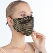 Máscara de fiesta de lujo decorativa personalizada con diamantes de imitación de Bling Bling