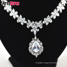 Gorgeous White Gold Plate Women Jewellery Necklace