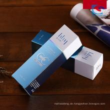 Kundenspezifische kosmetische Folie heiß stempeln Parfüm-Papier-Box