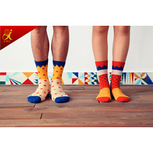 Korean Version of The Small Fresh Cotton Socks Male and Female Couple Colored Candy Love Jacquard Socks Wholesale Manufacturers