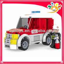 122 pieces blocks toy truck blocks fire fighting truck toy