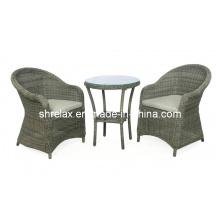 Conjunto de vime ao ar livre do Rattan cadeira Causal móveis jardim