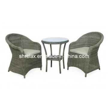 Conjunto de mimbre al aire libre de la rota silla Causal muebles jardín
