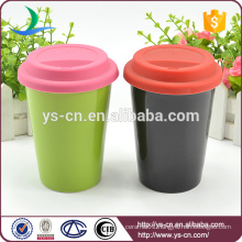 2015 Ceramic double layer cup without handle