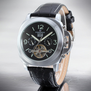 Leather strap 3atm waterproof automatic men watches