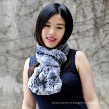 Nueva bufanda de piel genuina gruesa del diseño nuevo