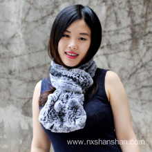 Top for Mongolian Fur Long Scarf New Design Thick Genuine Real Fur Scarf export to Cote D'Ivoire Manufacturers