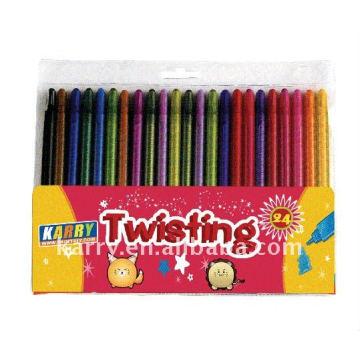 24 colors wax crayons