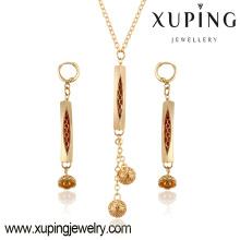 63780 china schmuck großhandel mode schöne halskette und ohrringe vergoldet frauen schmuck sets