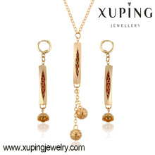 63780 china jewelry wholesale fashion beautiful necklace and earrings gold plated women jewelry sets