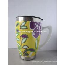 nouveaux produits 2015 innovant produit promotionnel travel mug, tasse de sublimation, tasse en céramique