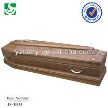 alças de metal brilhantes para o caixão de adulto tradicional
