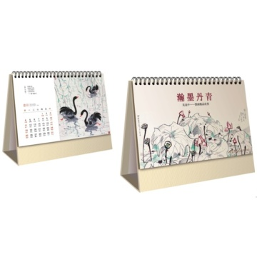 Art Paper Glossy Lamination Customized Desk Calendar