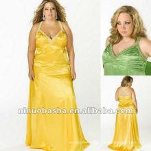 Charmeuse Wtih Beading e Criss Crossing Back Straps Evening Dress 2012
